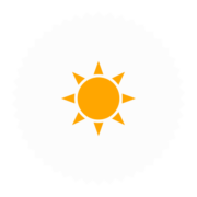 "Badge icon ""Sun (170)"" provided by The Noun Project under The symbol is published under a Public Domain Mark"