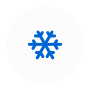 "Badge icon ""Snowflake (3777)"" provided by The Noun Project under The symbol is published under a Public Domain Mark"