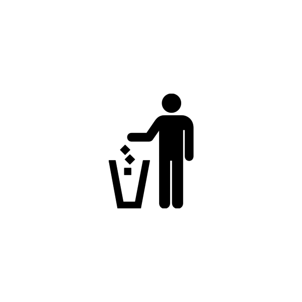 "Badge icon ""Trash (1)"" provided by Roger Cook & Don Shanosky, from The Noun Project under The symbol is published under a Public Domain Mark"