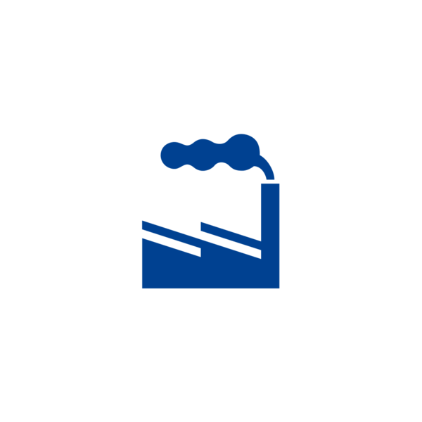 "Badge icon ""Factory (3840)"" provided by The Noun Project under The symbol is published under a Public Domain Mark"