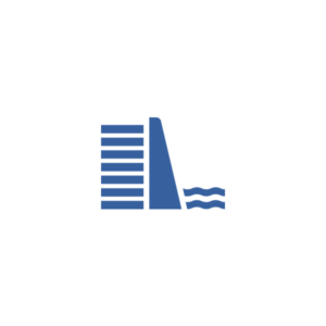 "Badge icon ""Dam (265)"" provided by The Noun Project under The symbol is published under a Public Domain Mark"