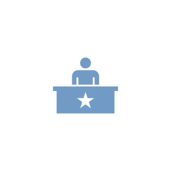 "Badge icon ""Main Office (737)"" provided by Edward Boatman, Mike Clare & Jessica Durkin, from The Noun Project under The symbol is published under a Public Domain Mark"