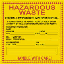 Hazardous Waste Warning
