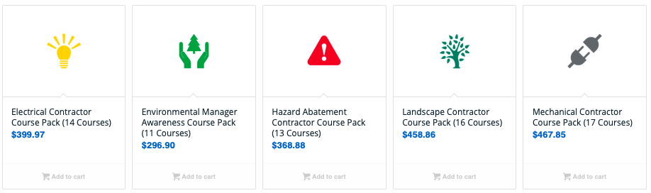 Contractor Course Packs