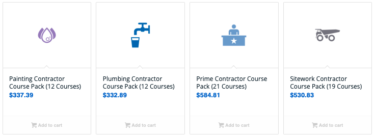Contractor Course Pack